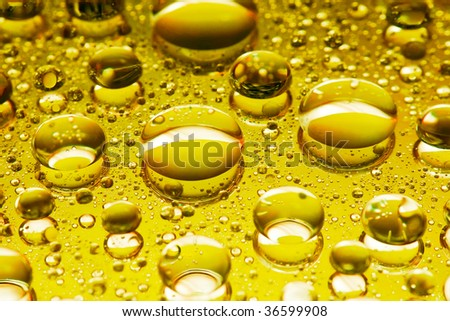 Gold lubricant - stock photo