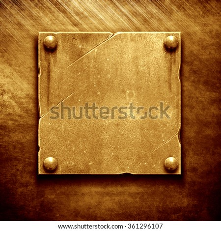 Gold Metal name plate - stock photo