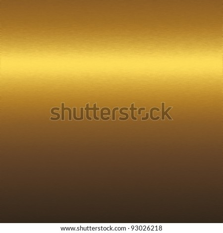 Gold metal texture, background to insert text or design - stock photo