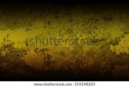 Gold metal texture on grunge style background - stock photo