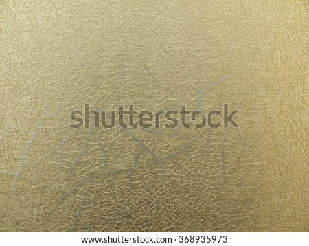 gold metal with crack texture - stock photo