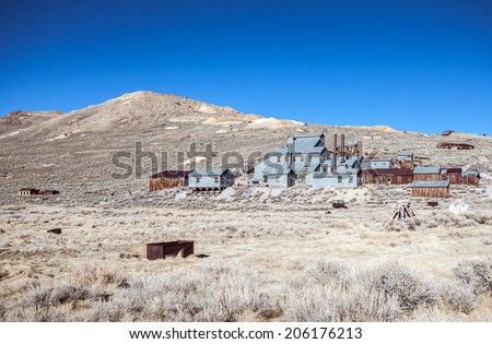 Gold mine in Bodie ghost town - stock photo