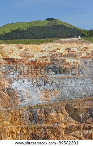 Gold Mine Open caste 2 - stock photo