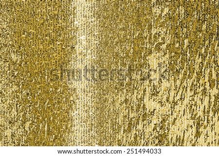 Gold mosaic background pattern - stock photo