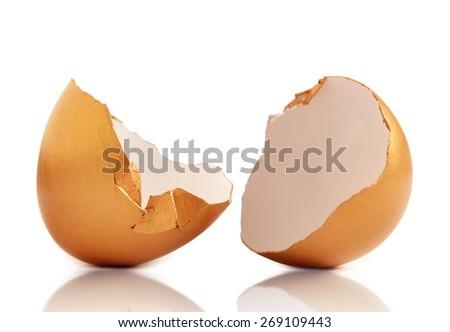 Gold nest egg  - stock photo