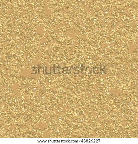 Gold Nugget Seamless Texture has realistic color and feel. - stock photo