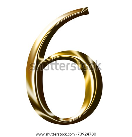 gold number symbol - stock photo