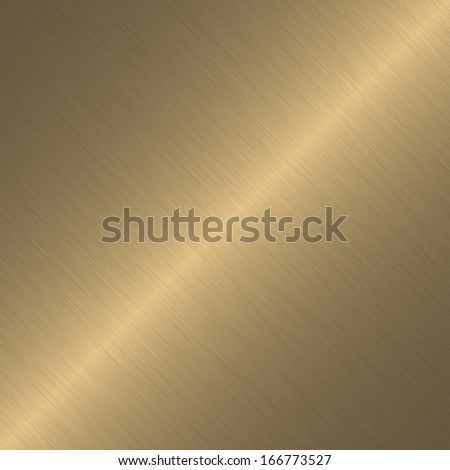Gold or brass surface with linear gradient - stock photo