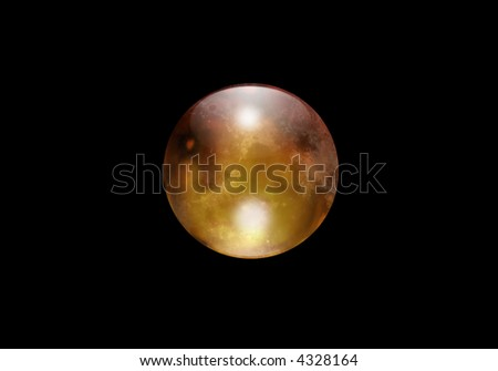 Gold Orb - stock photo