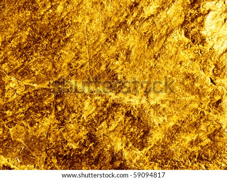Gold ore - stock photo