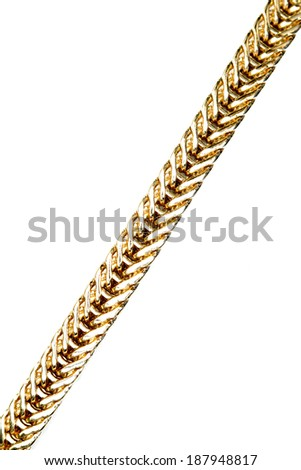 Gold ornaments on white vertical - stock photo