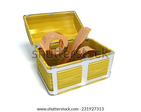 gold percent - stock photo