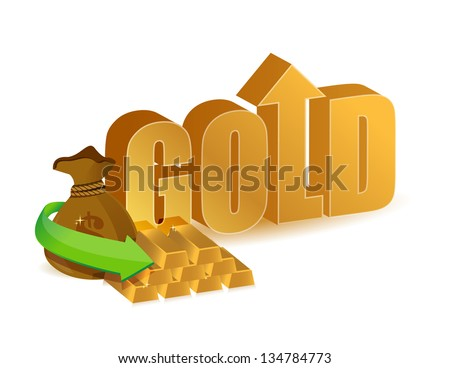gold prices increasing illustration design over a white background - stock photo