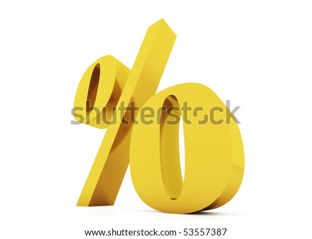 Gold procent - stock photo