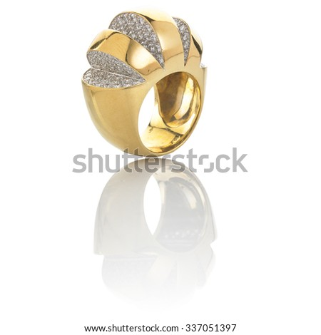 Gold Ring - stock photo