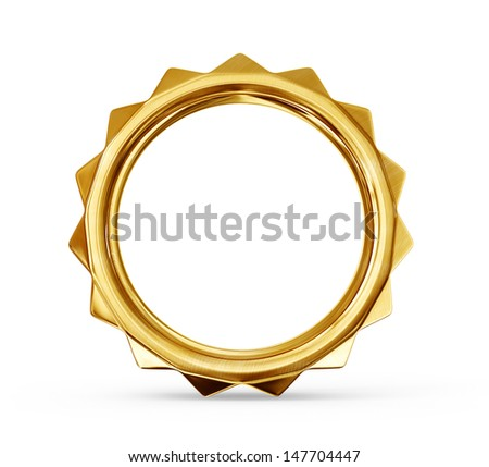 gold ring isolated on a white background - stock photo