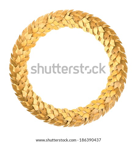 Gold round the Laurel wreath - stock photo