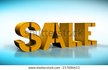gold sale text isolated on white background - stock photo