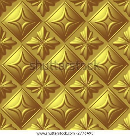 Gold Seamless Background - stock photo