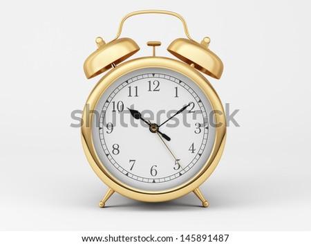 Gold Shiny Clock   - stock photo