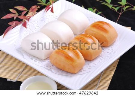 gold silver bread - stock photo