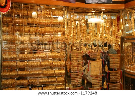 Gold souq, Dubai - stock photo