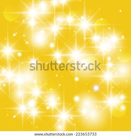 Gold sparkle glitter background. Glitter stars background. - stock photo