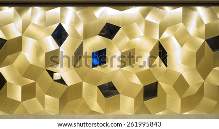 Gold sparkle glitter background, Glittering mosaic pattern - stock photo