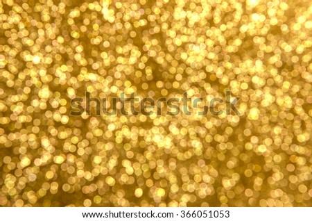 Gold spring or summer, defocused lights bokeh abstract background . - stock photo