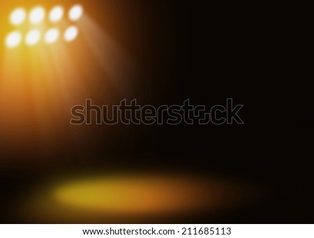 Gold stage light background  - stock photo