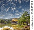 gold temple japan for adv or others purpose use - stock photo