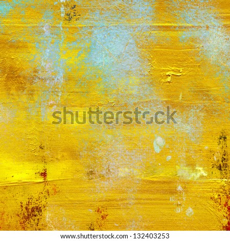 gold texture with cracked varnish surface - stock photo