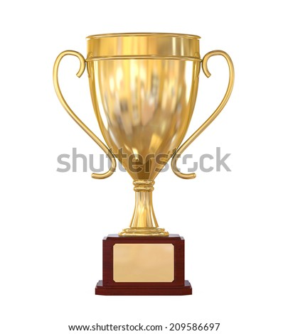 Gold Trophy Cup - stock photo