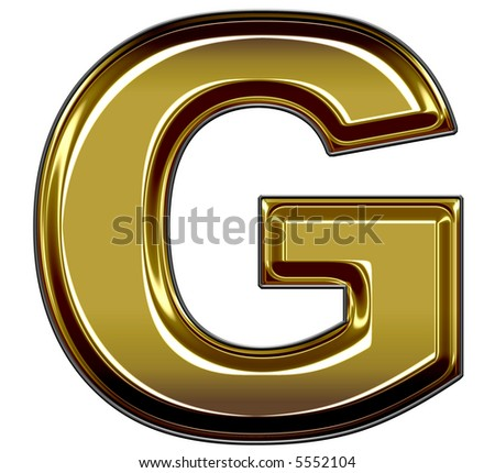 gold upper case G - stock photo