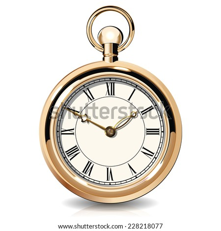Gold vintage watches - stock photo