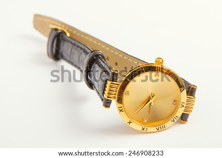 gold watch  - stock photo