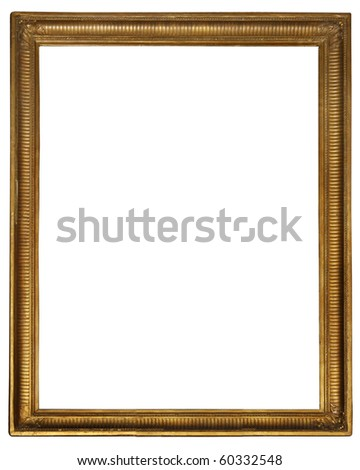 """Gold wooden frame (From my """"Frames collection"""") - stock photo"""