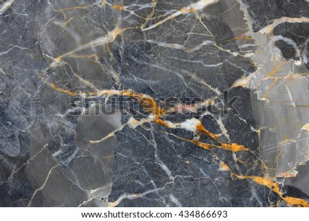 Gold, yellow and white patterned of Dark gray marble pattern (Gold Russia), marble texture for design. - stock photo