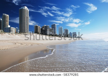 Goldcoast beach, Queensland, Australia - stock photo