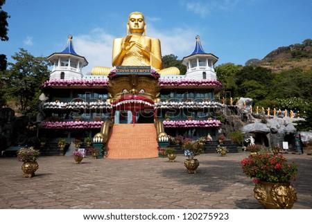 Goldem Temple in Dambulla, Sri Lanka - stock photo