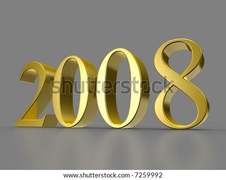 Golden 2008 - stock photo
