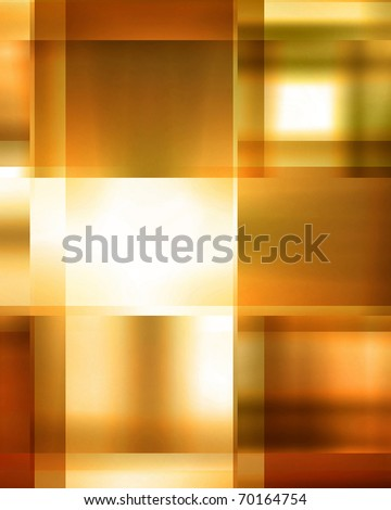 Golden abstract background with some cubic features - stock photo
