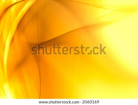 golden abstract composition - stock photo
