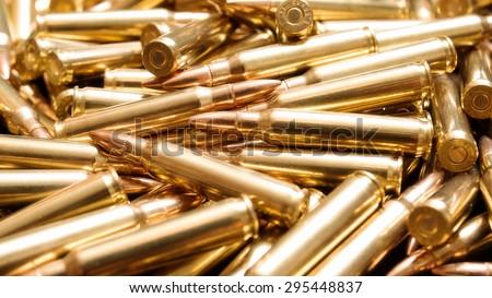 Golden ammo background - stock photo