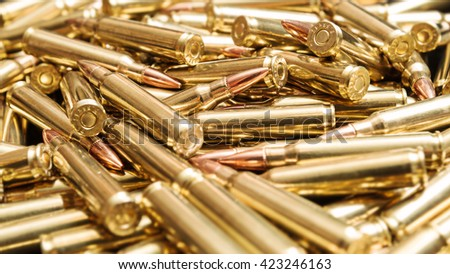 Golden ammunition - stock photo