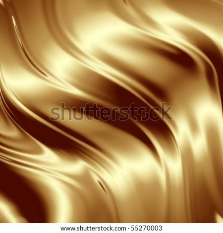 Golden artistic texture - stock photo