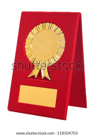 golden award with blank space for your text on white background - stock photo