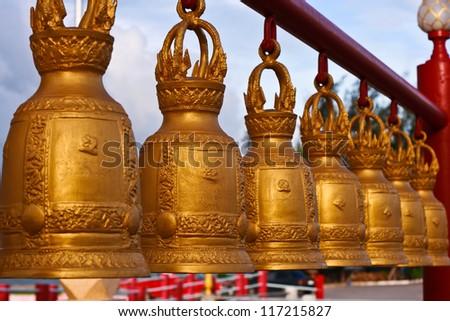 golden bell - stock photo