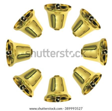 golden bells background - stock photo