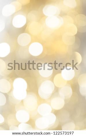 Golden bokeh background - stock photo
